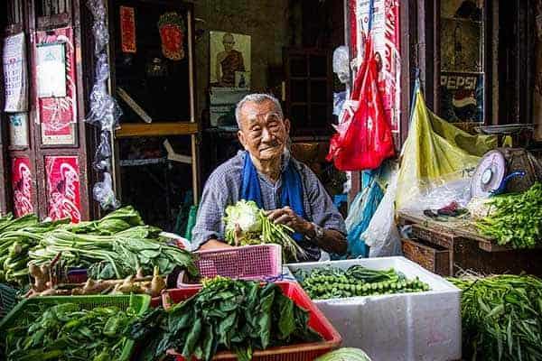 Chinatown in Bangkok vegetable seller on tours in Bangkok