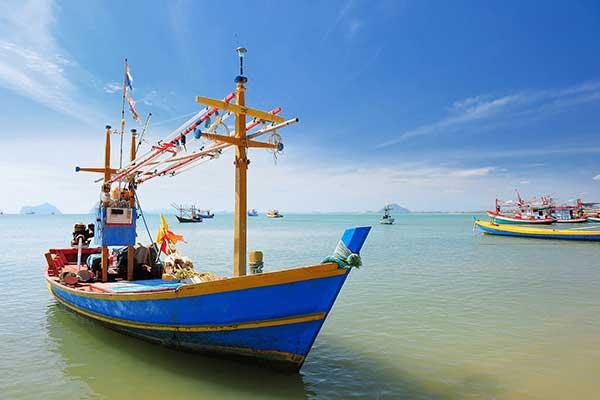 Thai fishermens boat