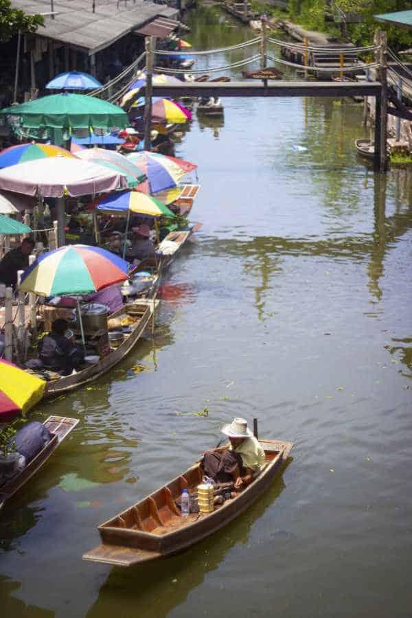 Amphawa floating market and lotus pond tour