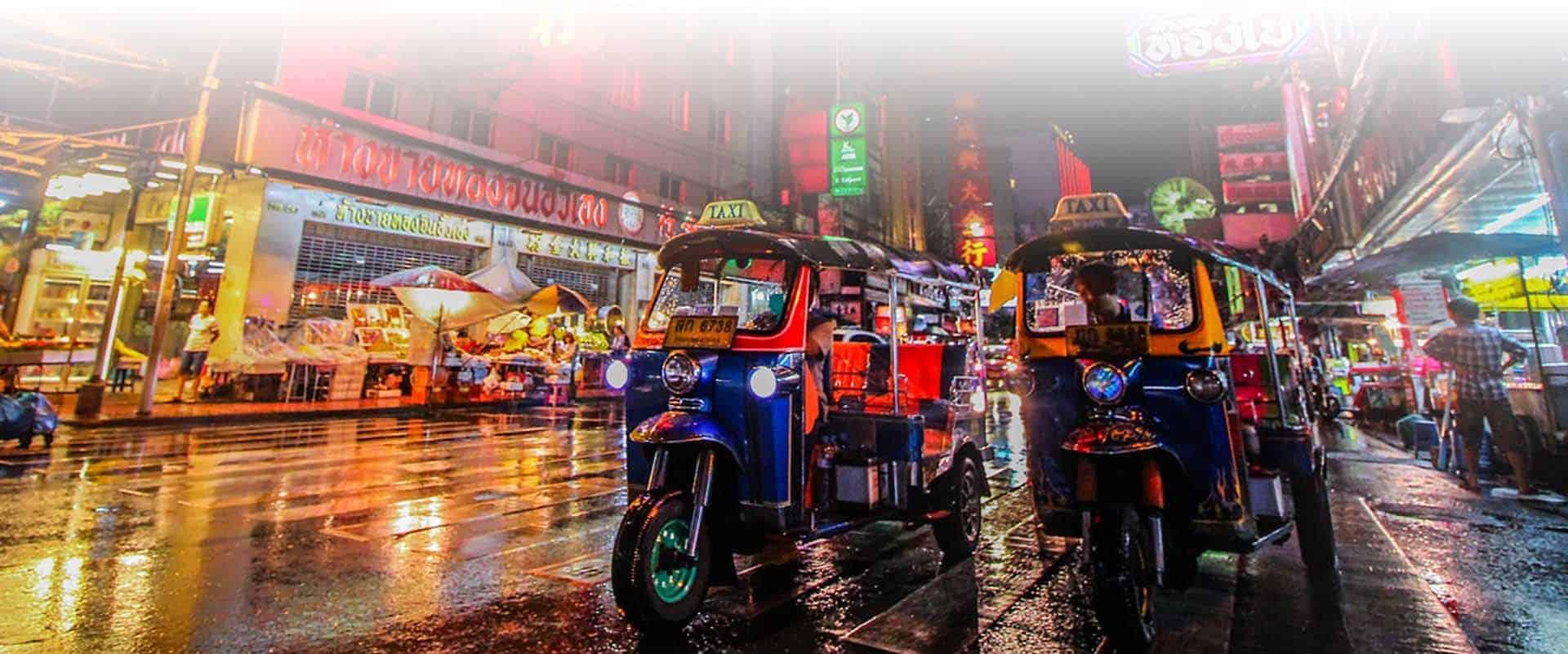 2 days private bangkok tour tuk tuk at night